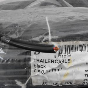 Trailer Cable 7-core black trailer-cable,  0.65mm, Sold per 1m. length AP0326