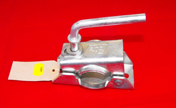 Pressed-steel Clamp size 34mm, for pressed-steel jockey-wheels AND prop-stands with a 34mm shaft