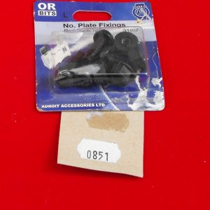 Number plate fixing bolts, black Code AP0851