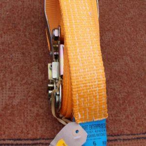 Ratchet strap, 5000kg, 6 metres, 50 mm width.