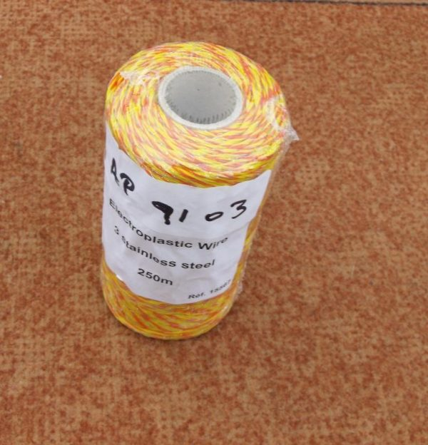 Fencing Wire, Electro Plastic Fencing Wire 3 strands stainless steel wire 200m roll