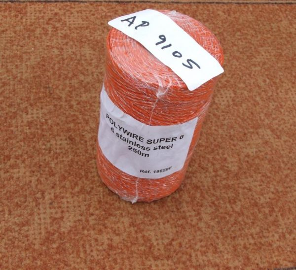 Fencing Wire, Super 6 Electro Plastic Fencing Wire 6 strands stainless steel wire 250m roll
