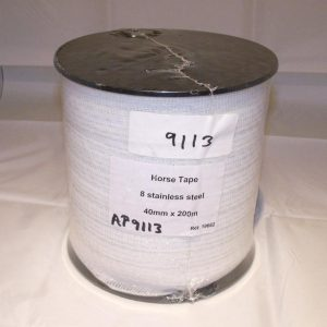 Fencing Wire, Fencing Wire Horse Tape 40mm wide 8 strand 200m roll