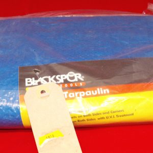 4 x 6ft general Tarpaulin 'Blackspur' New