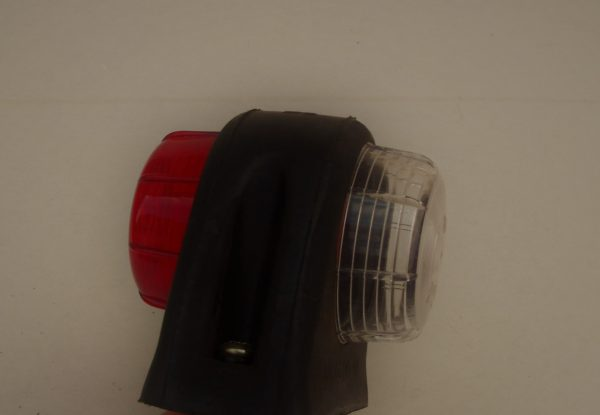 Trailer Light, side marker round wh/red