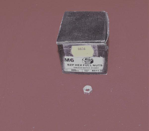 Nuts BZP full nuts M6 Pk10  Code AP0836