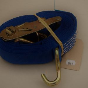 Ratchett strap, claw hooks, 2000kg, 5 metres, blue 50mm