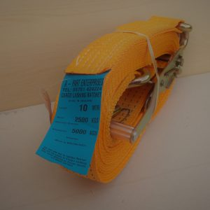 Cargo Lashing Strap, Ratchet strap 2,500kg, 10 meters, orange 50mm