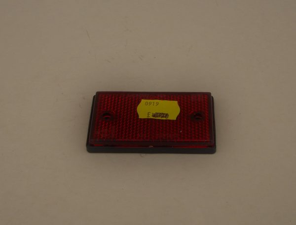 Red Rectangular Rear Reflector, small