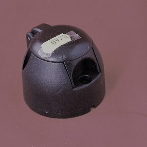 12N Socket 7 pin, black plastic Code AP0978
