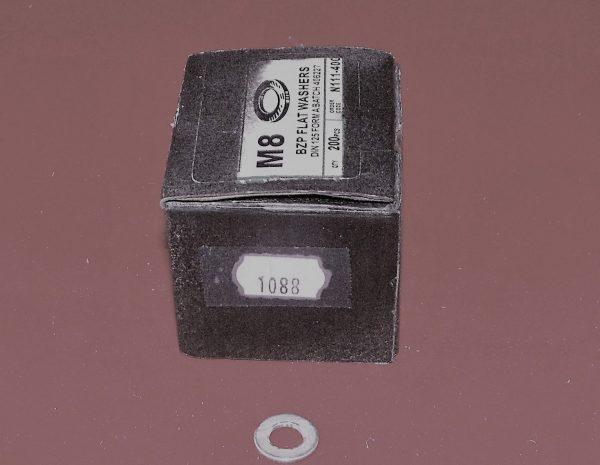 Washers – flat washers BZP M8 Pk10  Code AP1088