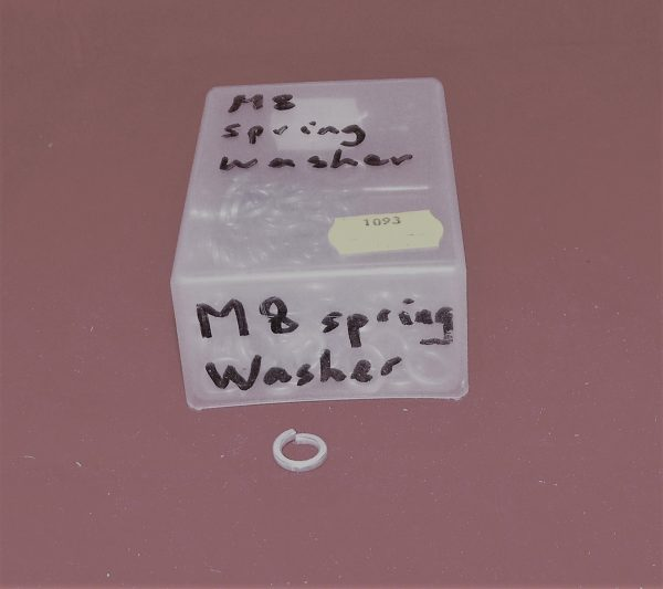 Washers – spring shakeproof washer BZP M8 Pk5 Code AP1093