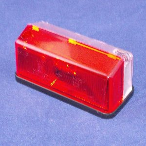 Trailer Light side marker, 4″wide x 2″ x 2″ white/red.  Code APS1400S
