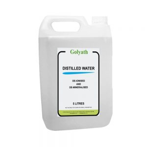 5L Distilled Water (5 Litres) – Pure Distilled Water 5L Demineralised – dH2O Water (Almost 0 ppm) Steam Distilled Water